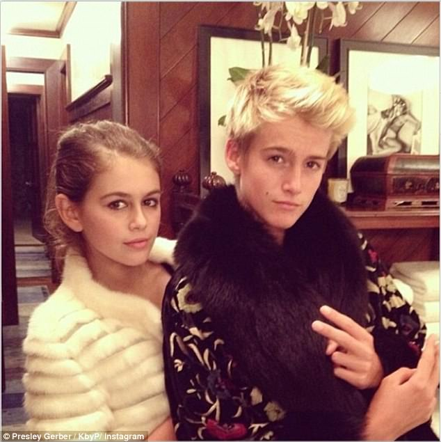 Kaia Jordan and Presley Gerber. Image courtesy of the dailymail.co.uk