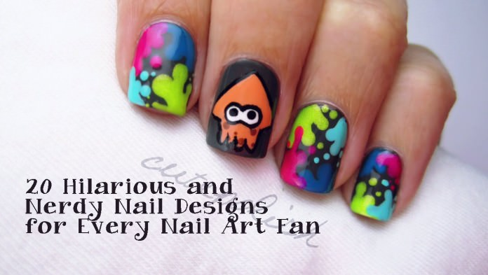 20 Hilarious and Nerdy Nail Designs for Every Nail Art Fan