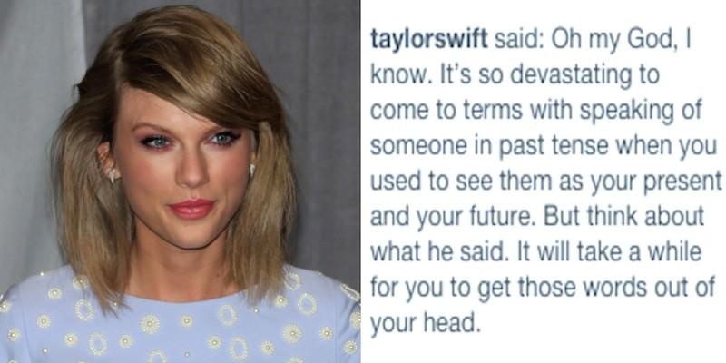 Taylor Swift helps fan with break up