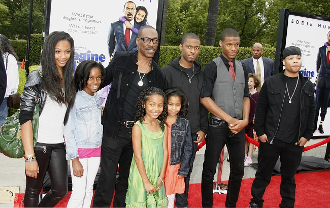 Eddie Murphy with 8 kids