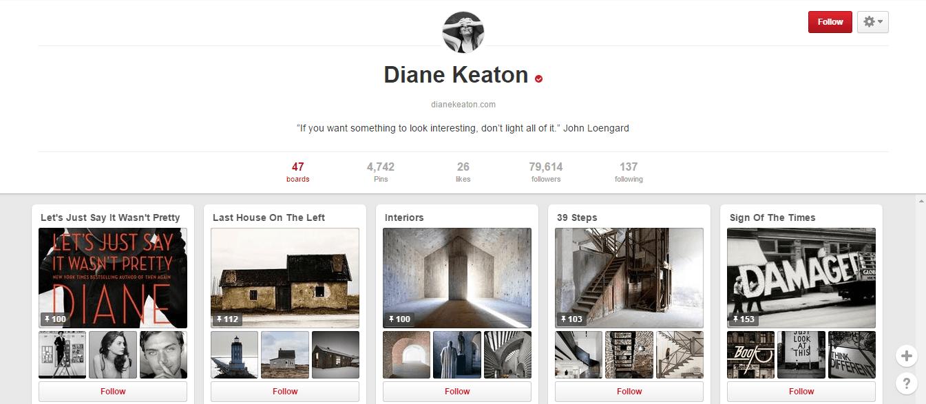 Pinterest- Diana keaton