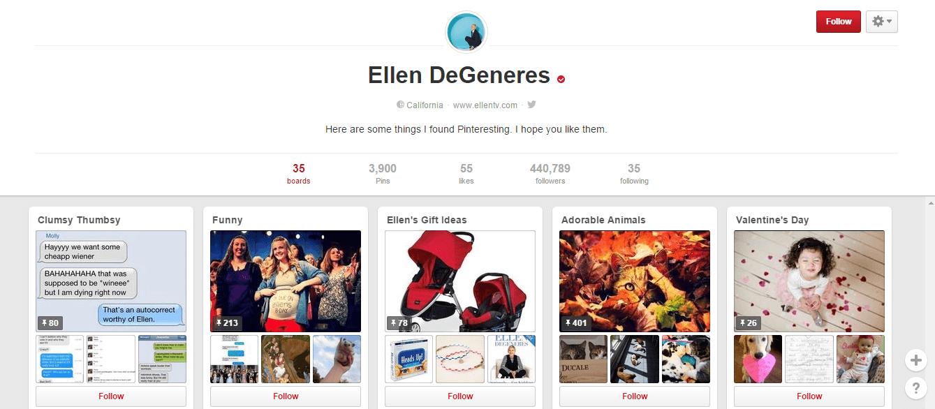 Pinterest- Ellen degeneres