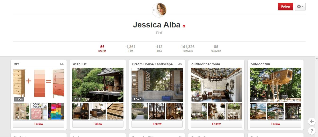Pinterest- Jessica alba