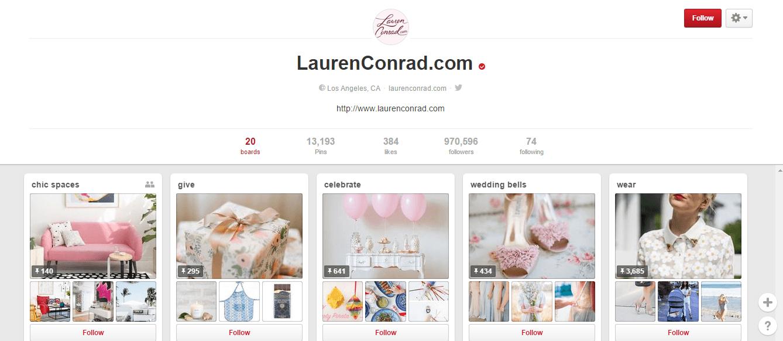 Pinterest- Lauren conrad