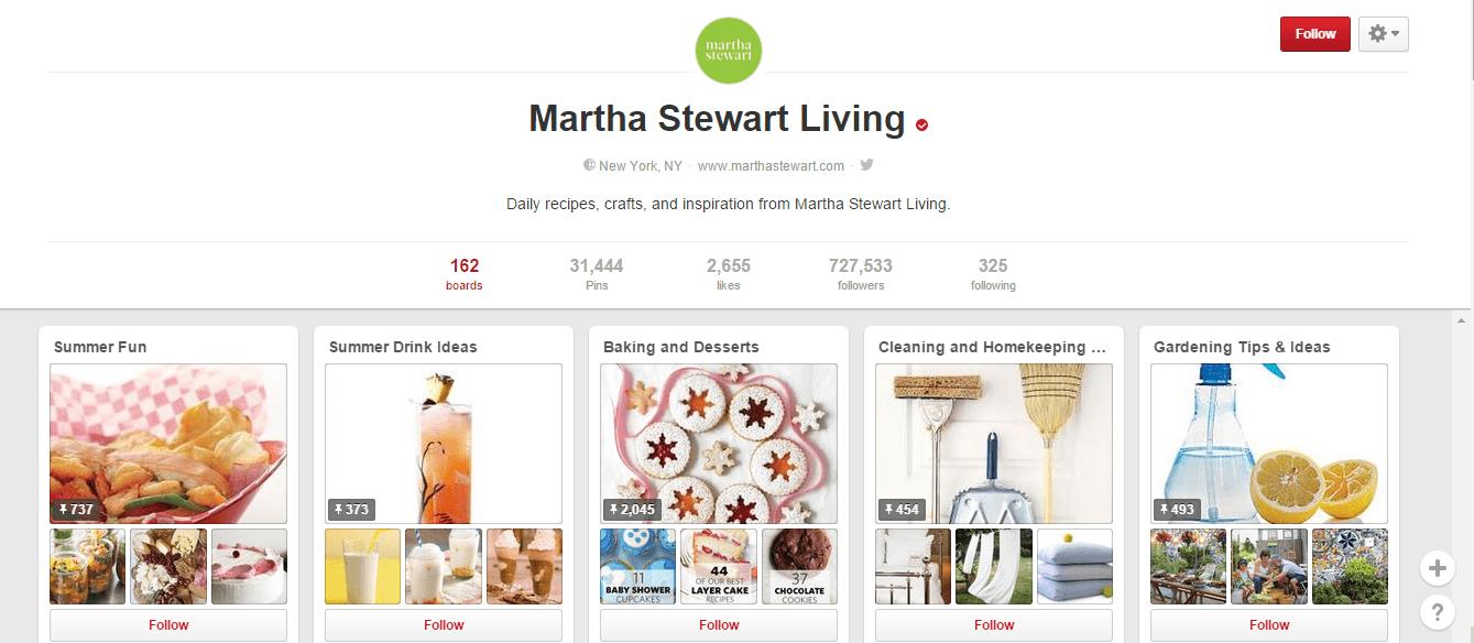 Pinterest- Martha stewart