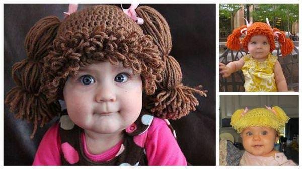 kids with cabbage patch baby hats