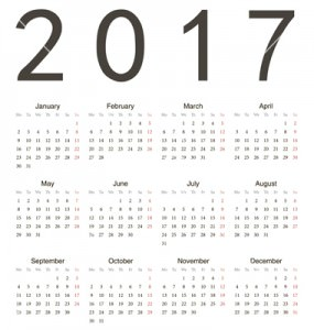 Simple russian 2014, 2015, 2016 year vector calendars