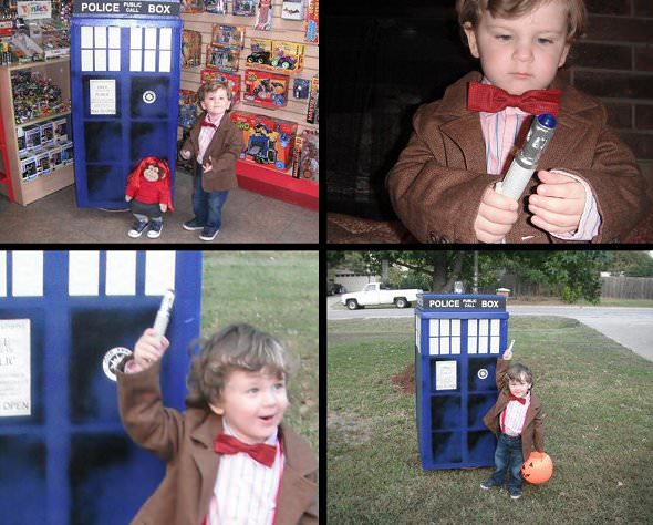 kid dressed as Doctor Who
