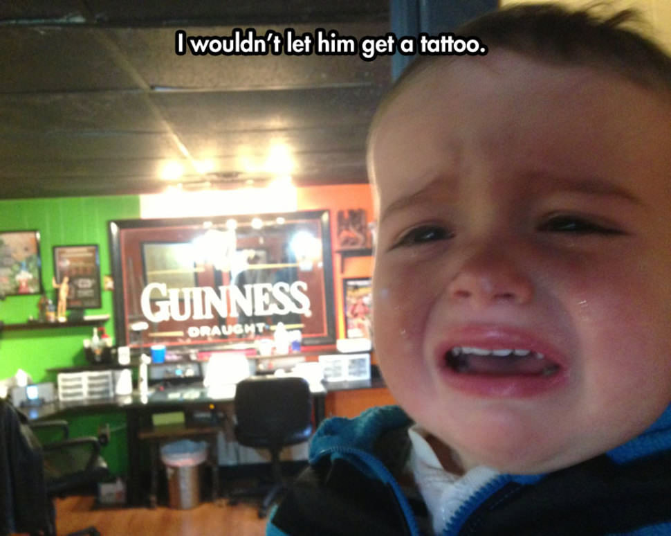 kids crying for the silliest reasons