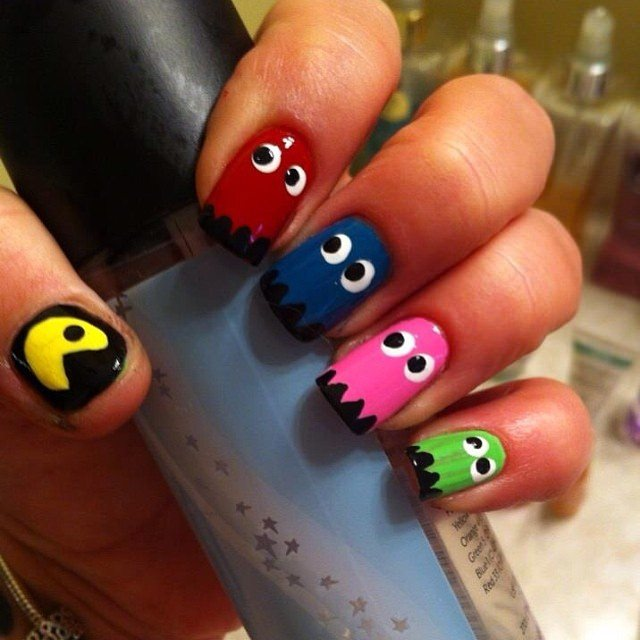 pac man nails