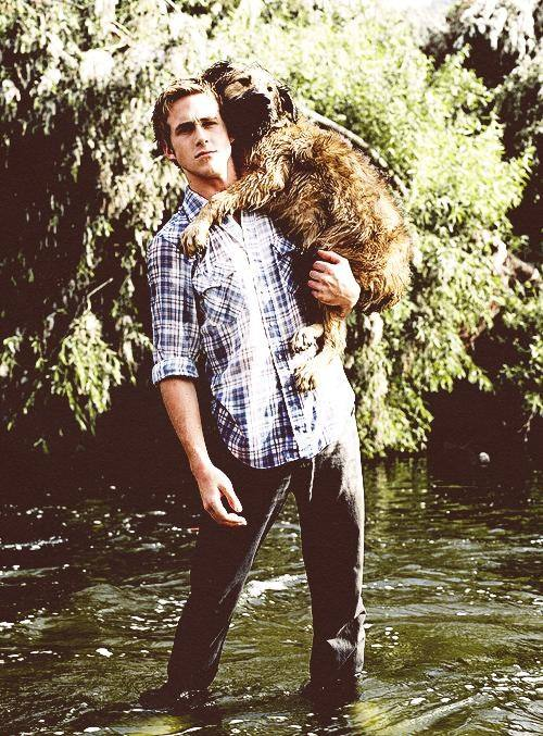 ryan gosling with pet