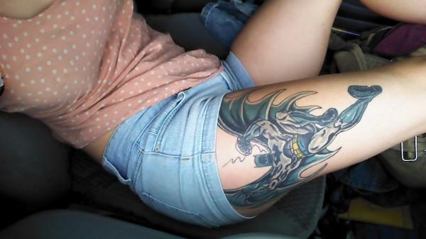 batman tattoo hush