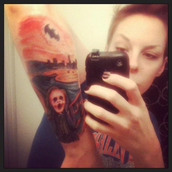 batman tattoo joker scream