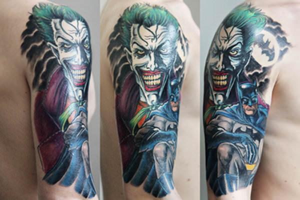batman tattoo joker