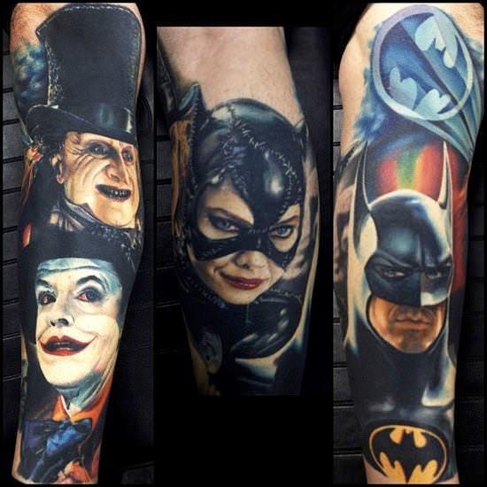 batman tattoo tim burton