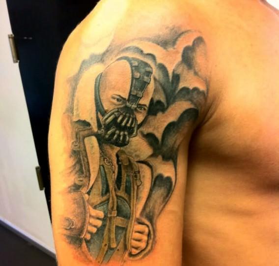 batman tattoo bane