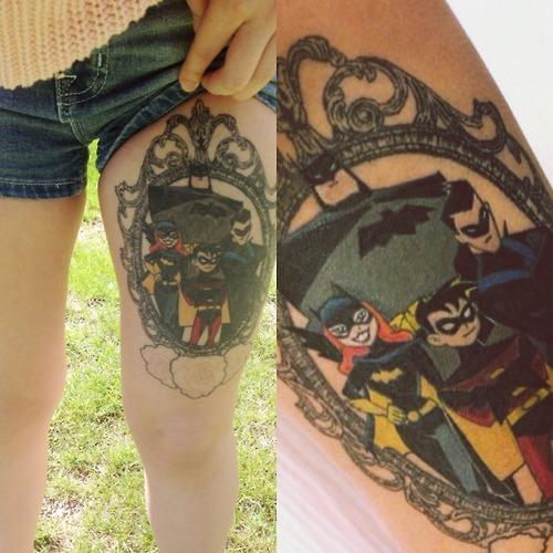 batman tattoos portrait
