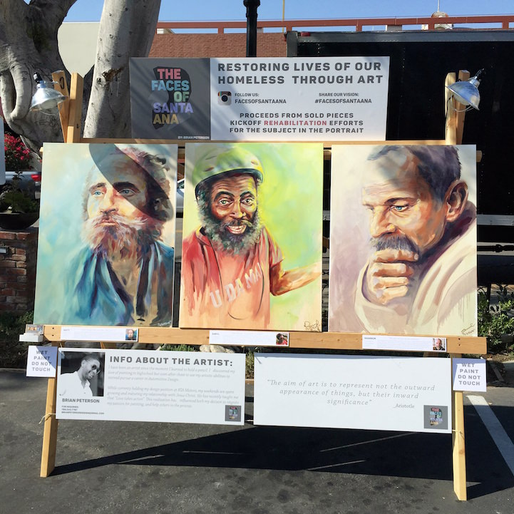 The portraits on display in downtown Santa Ana