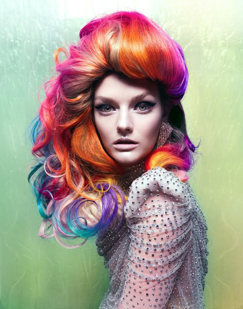 rainbow hair color trend