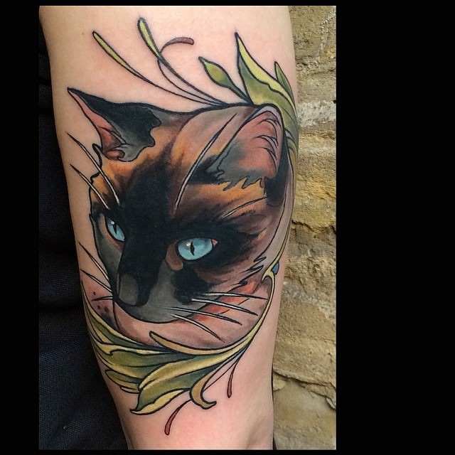 22 cat tattoos for crazy cat people 17 is a beauty
