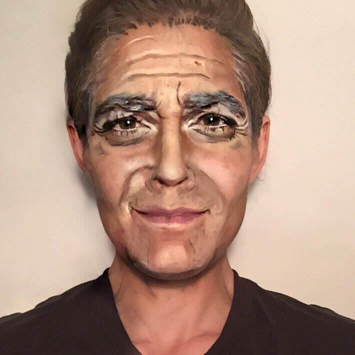 Rebecca Swift as George Clooney