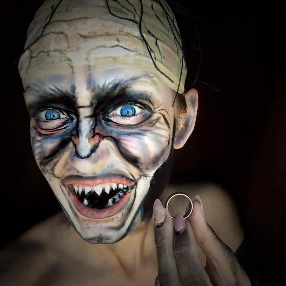 Rebecca Swift as Gollum from Lord of The Rings