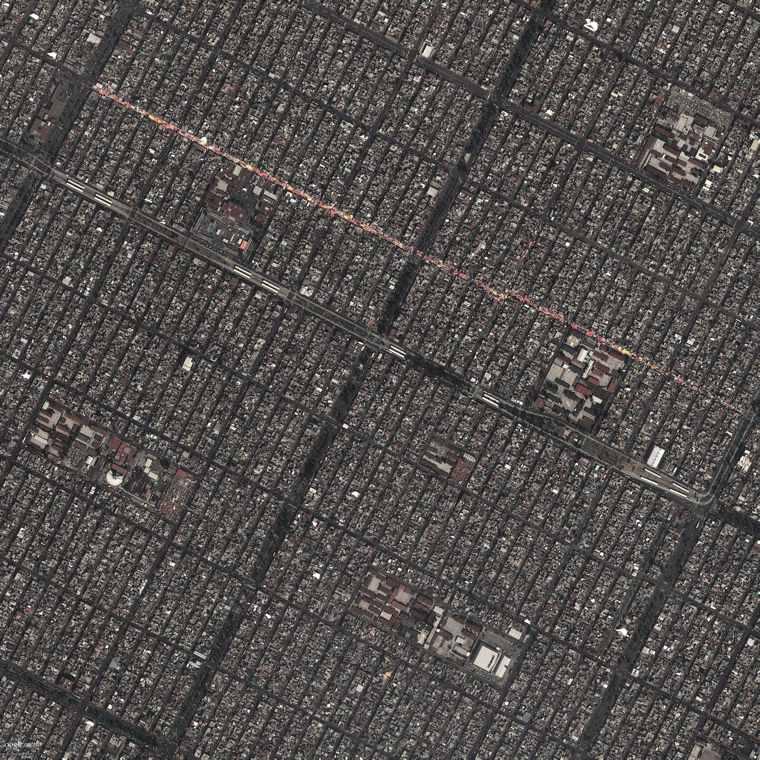Google Earth View of Neza-Chalco-Itza Barrio in Mexico City, the world's largest slum.