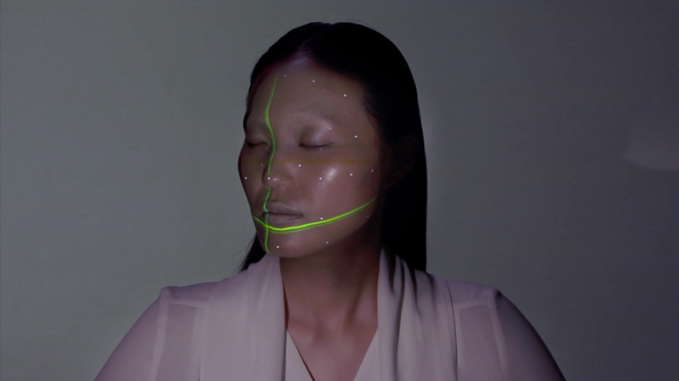 Face is scanned using facing tracking technology