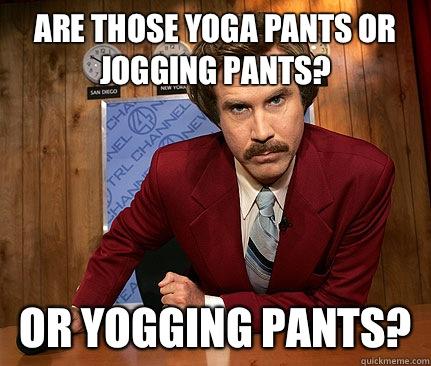 yoga pants memes