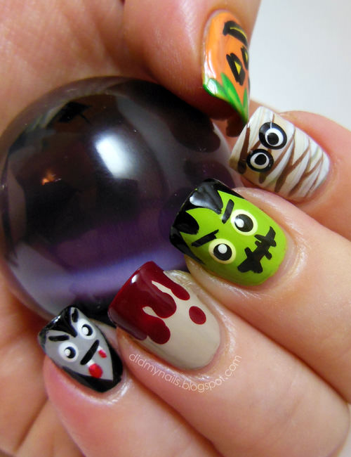 15 Halloween Style Nail Art Inspo That Will Freak Your Halloween Pals