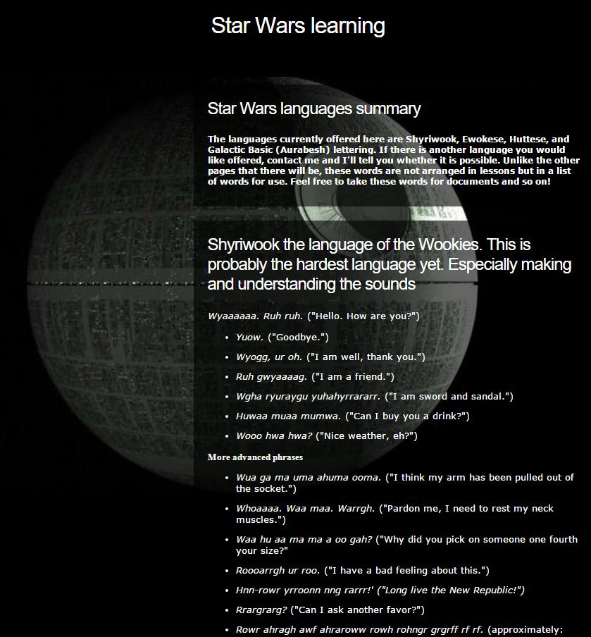 via starwarslearning.webs.com/starwarslanguages.htm