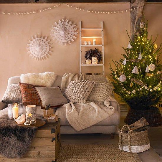 via pinterestcom - Christmas Decor Living Room Pinterest