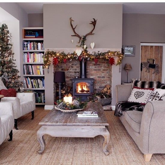 Inspiring Sitting Room Decor Ideas For Inviting And Cozy: 15 Great Living Room Christmas Decorations Ideas For