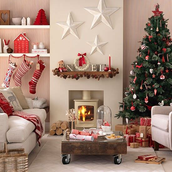 Christmas Decorations For Sitting Room : Great living room christmas decorations ideas for