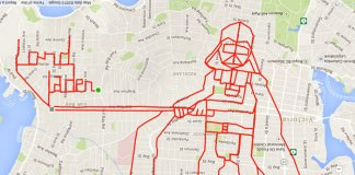 Artist Draws Amazing Doodles By tracking His Bike Rides With GPS