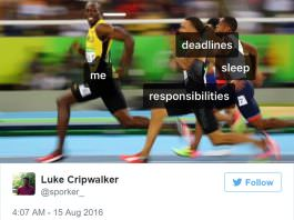 The Funniest Tweets About Usain Bolt's Rio Olympics Mid Race Smile
