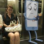 This Clever Artists Has Incredible Monsters Hang Out With Strangers On The Subway