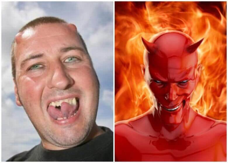 man gets plastic surgery to look like Satan