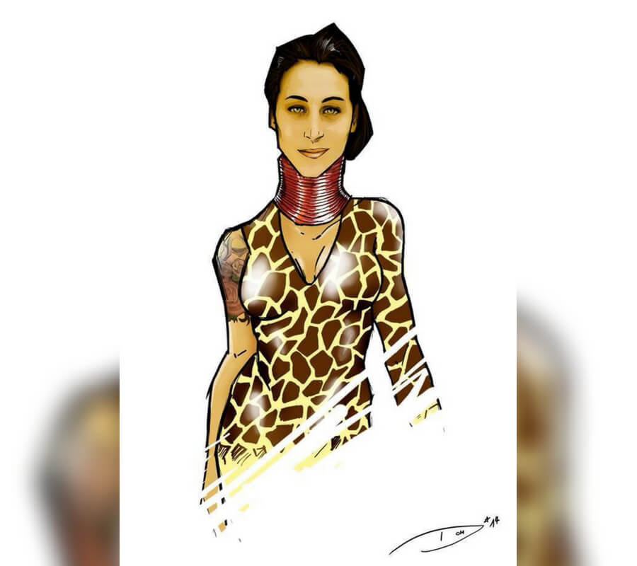 Giraffe Woman Comic Book Character